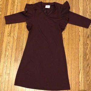 Brand new ruffle shoulder dress